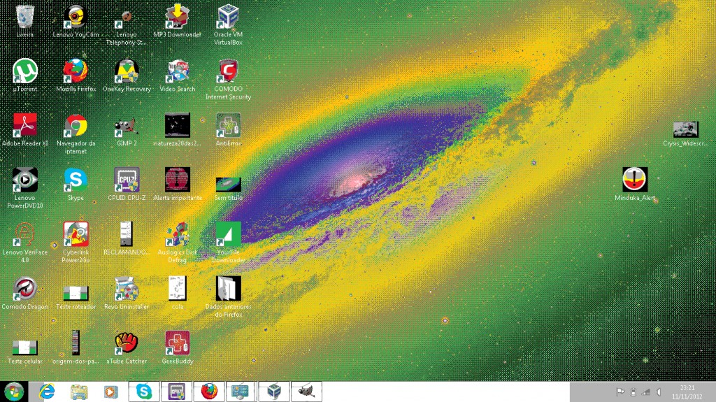 Windows 7 com 256 cores - erro no driver VGA