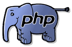 elefante azul escrito php